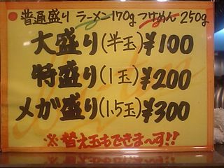 美豚 蓮田店:麺の量